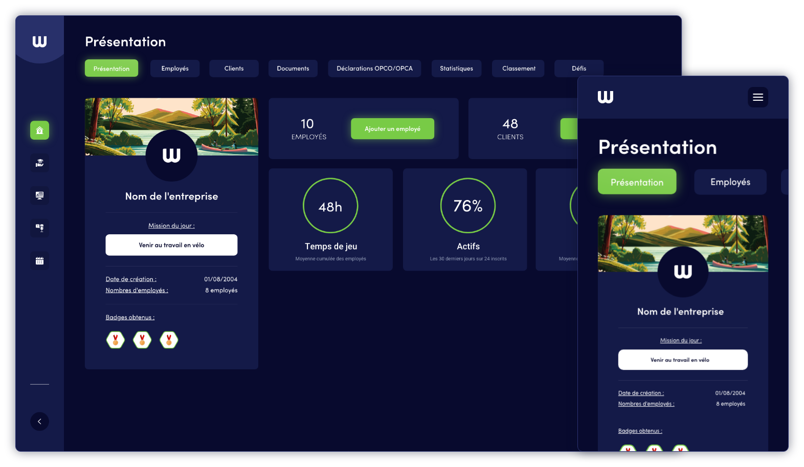 Interface Wenow.